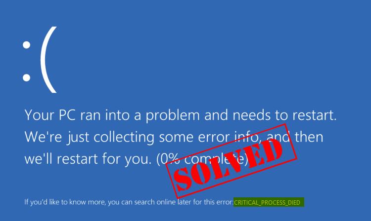 Kritischer Prozess gestorben BSOD-Fehler in Windows 10 (Gelöst)