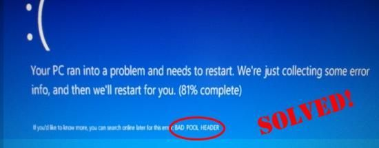Windows 7 Bad Pool Header (RESOLVIDO)