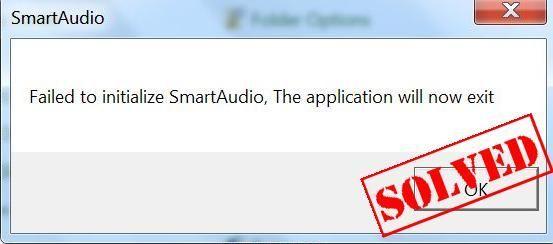 Neizdevās inicializēt SmartAudio (SOLVED)