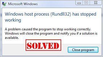 (Исправљено) Процес хоста за Виндовс (Рундлл32) је престао да ради