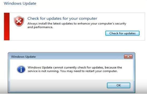 Windows Update trenutno ne more preveriti, ali so na voljo posodobitve (REŠENO)