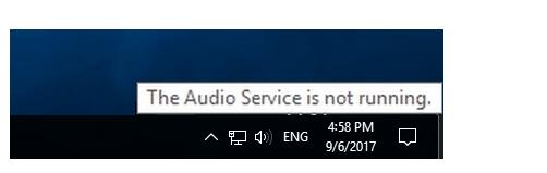 हल: ऑडियो सेवा विंडोज 10 नहीं चल रही है