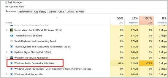 Labojiet Windows audio ierīču diagrammu izolācijas problēmu ar lielu procesora lietojumu