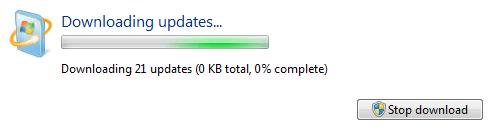 Como corrigir o problema de download de atualizações do Windows 7