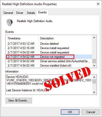 (Resuelto) Dispositivo no migrado en Windows 10