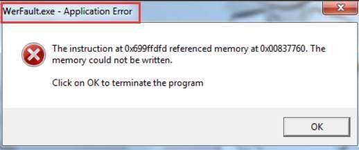 Fácil de corrigir erro de aplicativo WerFault.exe