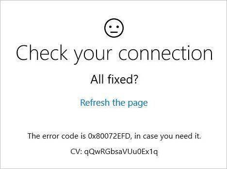 (Gelöst) So beheben Sie den 0x80072EFD-Fehler in Windows 10
