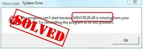Die besten Lösungen zur Behebung von MSVCR120.dll fehlen in Windows