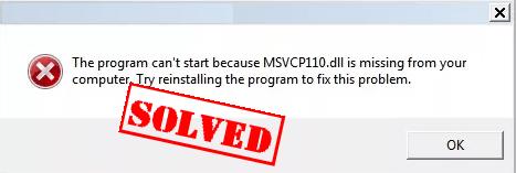 Trūkst kā novērst MSVCR110.dll (papildu rokasgrāmata)
