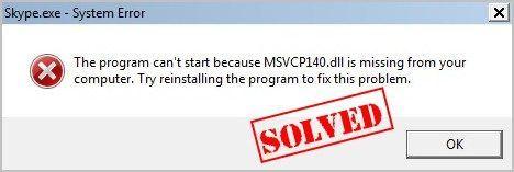 (Resolvido) MSVCP140.dll ausente no Windows 10