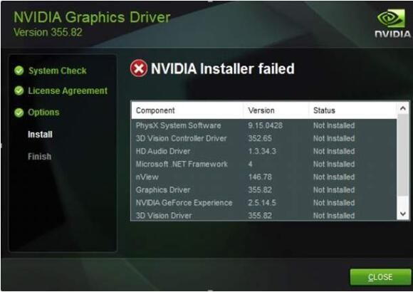 NVIDIA Installer fehlgeschlagen Fehler (GELÖST)