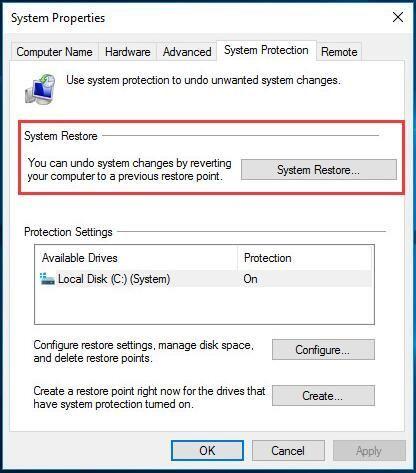 (Решено) Враћање система Виндовс 10 не ради