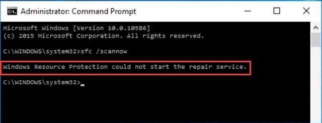 फिक्स्ड: विंडोज रिसोर्स प्रोटेक्शन मरम्मत सेवा शुरू नहीं कर सका - sfc त्रुटि