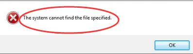 सिस्टम निर्दिष्ट फ़ाइल नहीं ढूँढ सकता (हल)