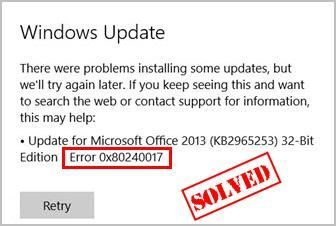 Windows atjaunināšanas kļūda 0x80240017 (novērsta)