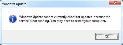 Windows अद्यतन सेवा नहीं चल रही है (SOLVED)