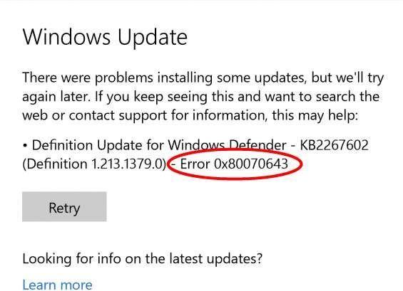 """Korjaa """"0x80070643"""" Windows Update- tai asennusvirheet Windowsissa"""
