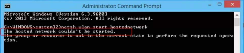 (解決済み)Windows10で「ホストされたネットワークを開始できませんでした」