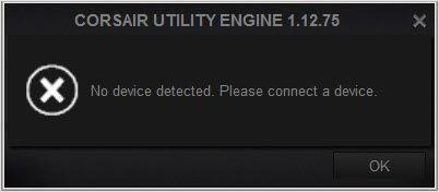 (Ratkaistu) Corsair Utility Engine -laitetta ei havaittu