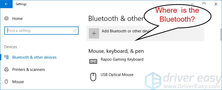 Windows 10 Bluetooth 누락 문제를 해결합니다. 빠르고 쉽게!
