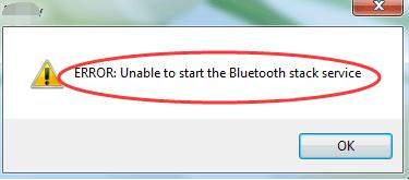 Nevar startēt Bluetooth steka pakalpojumu (atrisināts)