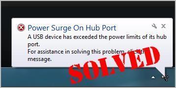 Behoben: Stromstoß am Hub-Port