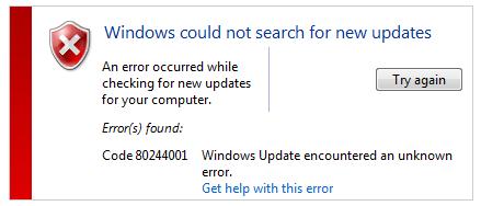 Windows nevarēja meklēt jaunus atjauninājumus (SOLVED)