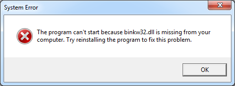 Binkw32.dll ஐ எவ்வாறு சரிசெய்வது காணாமல் போன பிழை