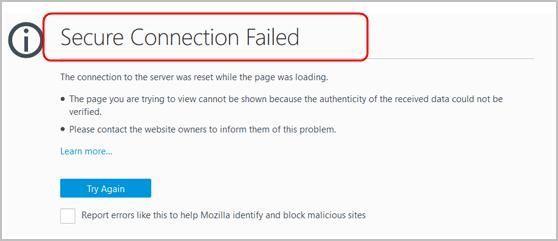 (हल) फ़ायरफ़ॉक्स पर सुरक्षित कनेक्शन विफल