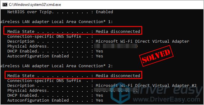 Cómo arreglar los medios desconectados en Windows