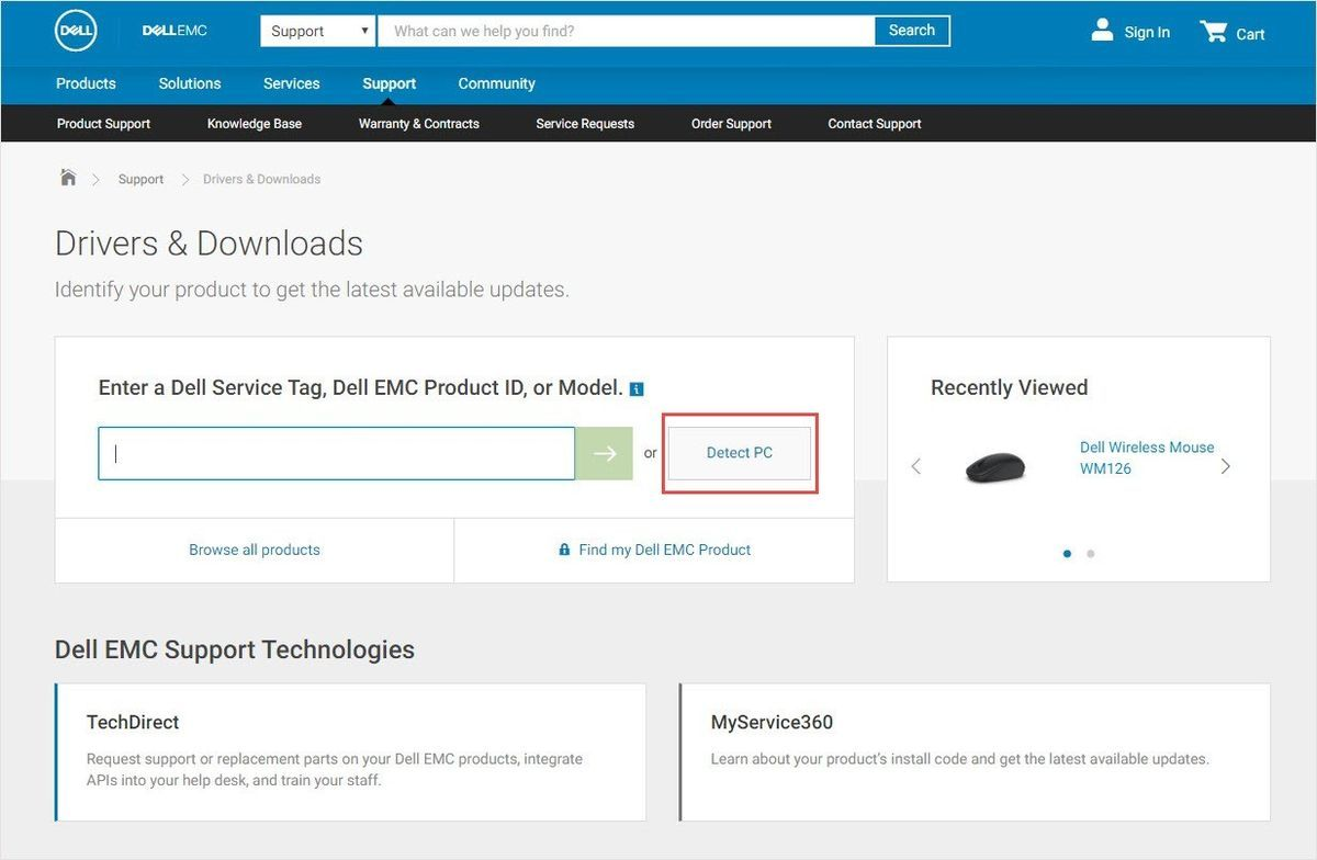 Herunterladen des Dell Mouse-Treibers (gelöst)