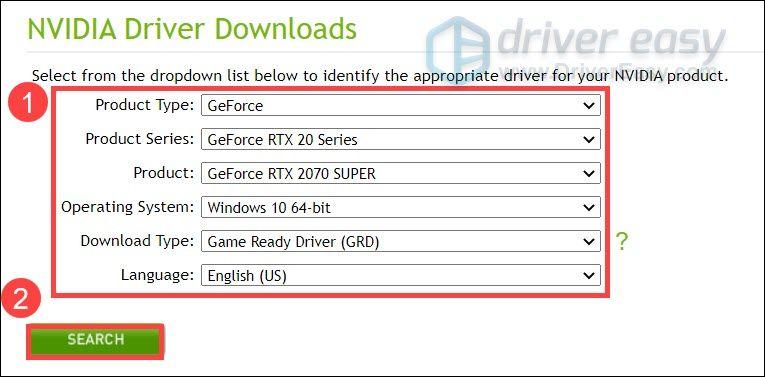 RTX 2070 SUPERドライバーのダウンロードと更新– Windows 10