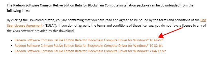 AMD Blockchain Drivers Prenos in namestitev za Windows