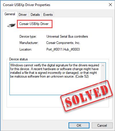 Corsair USBXp draivera problēmas Ātri un viegli