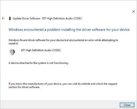 Kā novērst IDT augstas izšķirtspējas audio CODEC draivera problēmu