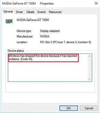 फिक्स कोड 43 त्रुटि: विंडोज ने इस डिवाइस को बंद कर दिया है क्योंकि इसने समस्याओं की सूचना दी है