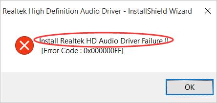 फिक्स Realtek HD ऑडियो ड्राइवर विफलता स्थापित करें। सरलता!