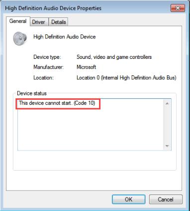 यह डिवाइस कोड 10 त्रुटि (हल) शुरू नहीं कर सकता