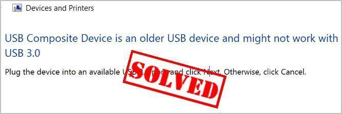 USB समग्र डिवाइस एक पुराना USB डिवाइस (SOLVED) है