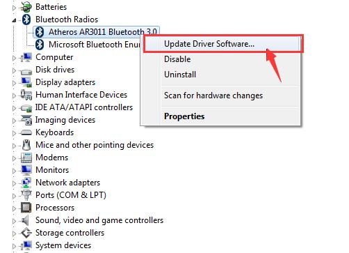 Qualcomm Atheros ब्लूटूथ ड्राइवर विंडोज 10 पर काम नहीं कर रहा (हल)
