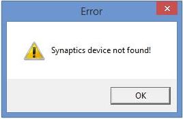 (हल) सिनैप्टिक्स उपकरण नहीं मिला!