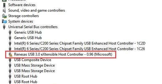 Odpravite težavo z gonilnikom Renesas USB 3.0 v sistemu Windows 10