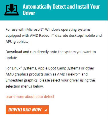 AMD augstas izšķirtspējas audio ierīces draivera lejupielāde operētājsistēmai Windows 10