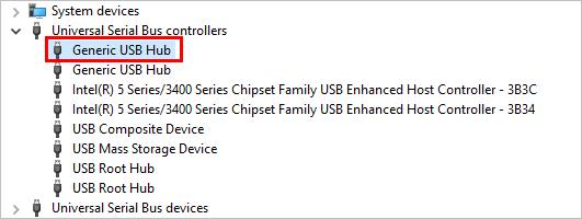 Problèmes génériques de pilote de concentrateur USB dans Windows (résolu)