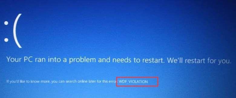 WDF_Violation zilā ekrāna kļūda operētājsistēmā Windows 10 (atrisināta)