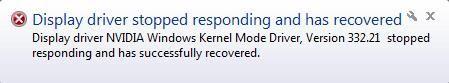 (Risolto) Il driver dello schermo Nvidia ha smesso di funzionare e si è ripristinato