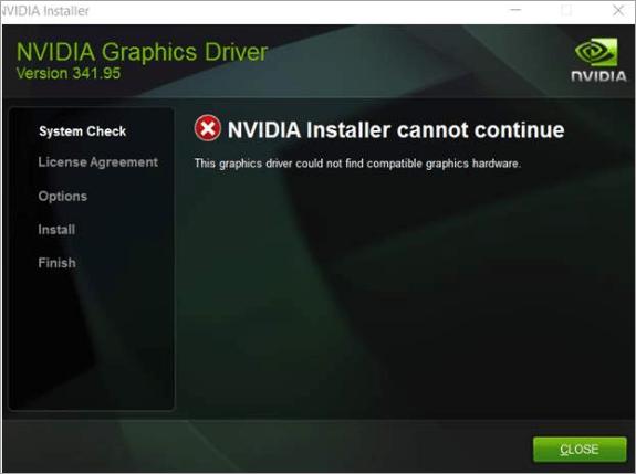 (해결됨) NVIDIA 설치 프로그램을 계속할 수 없습니다.