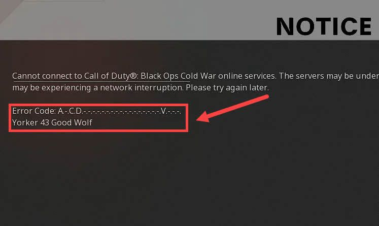 [RISINĀTS] Kļūda Yorker 43 Good Wolf Black Ops aukstajā karā
