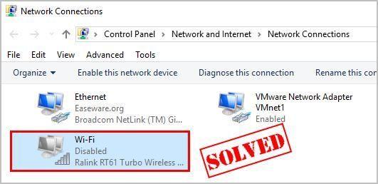 (Atrisināts) WiFi adapteris ir atspējots. Viegli