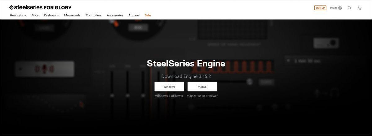 सेटअप SteelSeries आर्कटिक 7 ड्राइवर